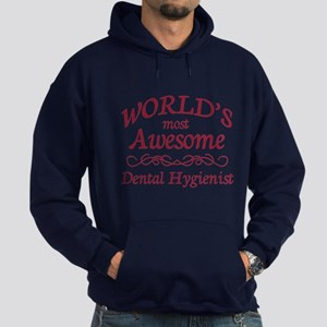 Awesome Dental Hygienist Hoodie (dark)