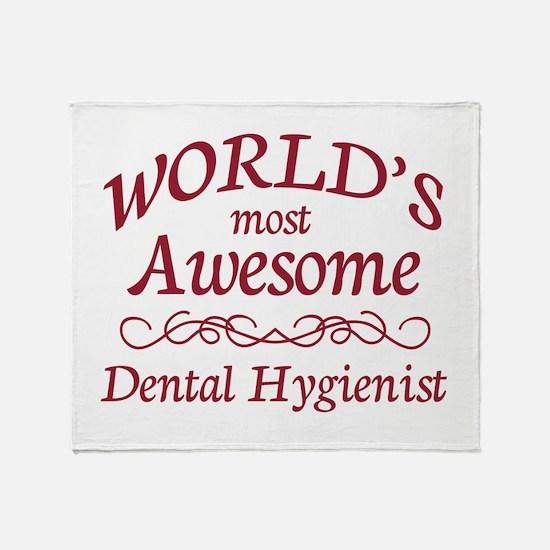 Awesome Dental Hygienist Throw Blanket
