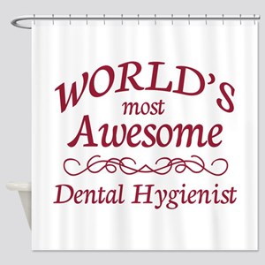 Awesome Dental Hygienist Shower Curtain