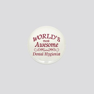 Awesome Dental Hygienist Mini Button
