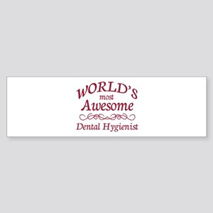 Awesome Dental Hygienist Sticker (Bumper)