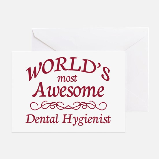 Awesome Dental Hygienist Greeting Card