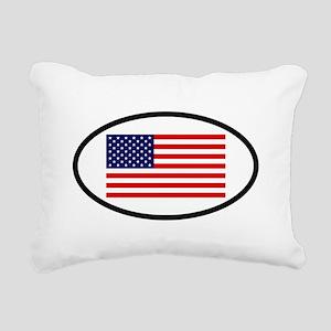 USA 7 Rectangular Canvas Pillow