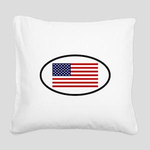 USA 7 Square Canvas Pillow