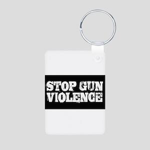 Stop Gun Violence Aluminum Photo Keychain
