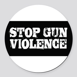 Stop Gun Violence Round Car Magnet