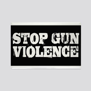Stop Gun Violence Rectangle Magnet