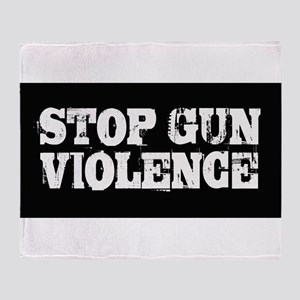 Stop Gun Violence Throw Blanket