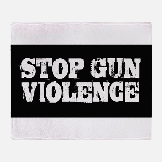Stop Gun Violence Throw Blanket