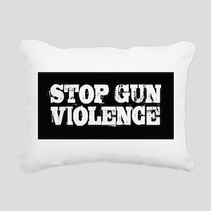 Stop Gun Violence Rectangular Canvas Pillow