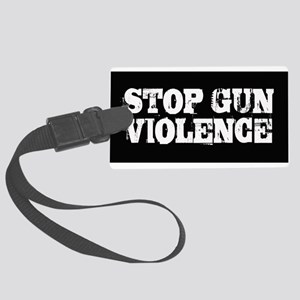 Stop Gun Violence Large Luggage Tag