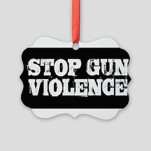 Stop Gun Violence Picture Ornament