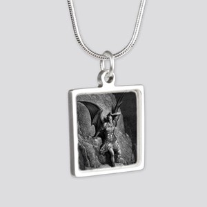 7 Silver Square Necklace