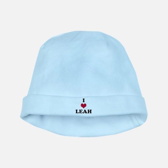I Love Leah baby hat