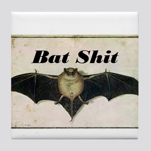 Bat Sh!t Tile Coaster