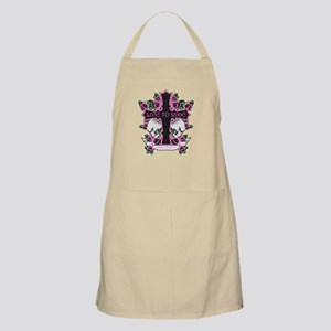 Roses Skulls-Pink- Live to Ride Apron