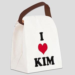 I Love Kim Canvas Lunch Bag