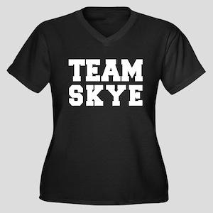 TEAM SKYE Women's Plus Size V-Neck Dark T-Shirt
