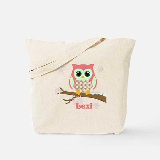 Custom name winter owl girl Tote Bag