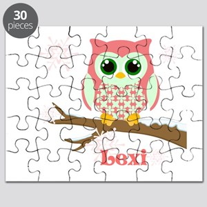 Custom name winter owl girl Puzzle