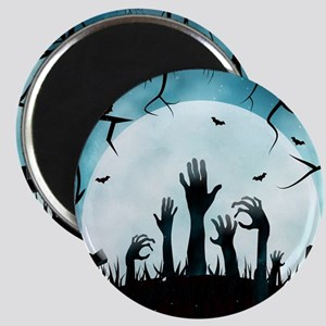 Scary Spooky Halloween Graveyard Hands Magnets