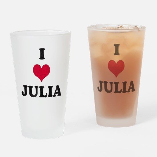 I Love Julia Drinking Glass
