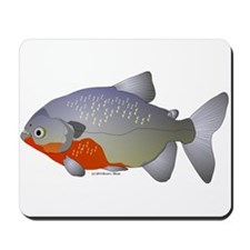 Red Belly Piranha Mousepad