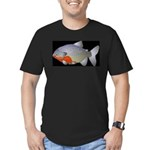 red belly piranha Men's Fitted T-Shirt (dark)