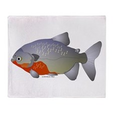 red belly piranha Throw Blanket