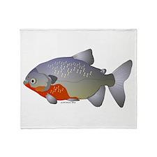 red belly piranha Throw Blanket