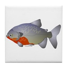 red belly piranha Tile Coaster