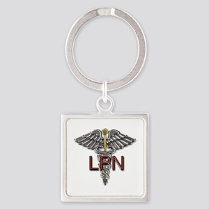 LPN Medical Symbol Square Keychain