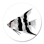 Angelfish (Amazon River) Round Car Magnet
