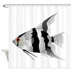 Angelfish (Amazon River) Shower Curtain