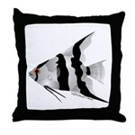 Angelfish (Amazon River) Throw Pillow