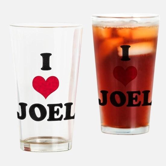 I Love Joel Drinking Glass