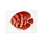 Discusfish (Discus) fish 5'x7'Area Rug