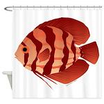 Discusfish (Discus) fish Shower Curtain