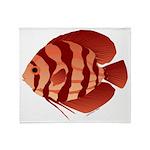 Discusfish (Discus) fish Throw Blanket