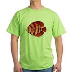 Discusfish (Discus) fish Green T-Shirt