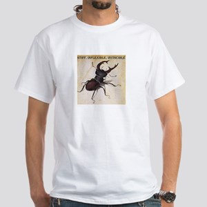 Stiff, inflexible, invincible beetle White T-Shirt