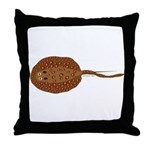 Amazon River Spotted Singray Throw Pillow