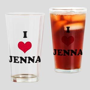 I Love Jenna Drinking Glass