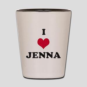I Love Jenna Shot Glass