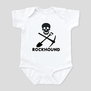 Rockhound Skull Cross Pick Shovel Infant Bodysuit