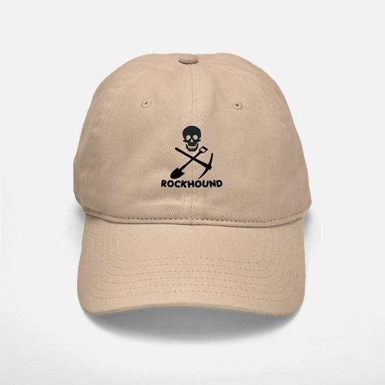 Rockhound Skull Cross Pick Shovel Baseball Baseball Cap