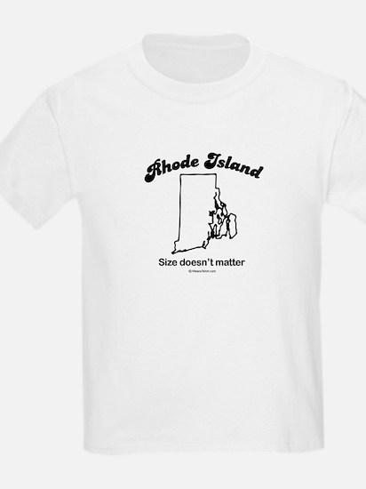 RHODE ISLAND: Size doesn't matter Kids T-Shirt