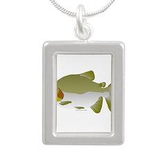 Pacu fish Silver Portrait Necklace