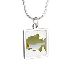 Pacu fish Silver Square Necklace