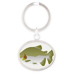Pacu fish Oval Keychain